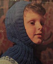 FG1b Knitting Pattern - Kids DK Wooly Balaclava Helmet Hat - Children's