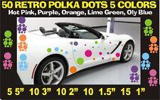 50 POLKA DOT CAR TRUCK STICKERS VINYL DECALS RETRO COLORS  patternsrus