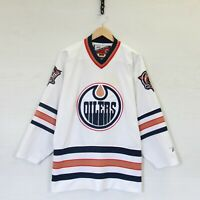 Vintage Edmonton Oilers Pro Player Stitched NHL Hockey Jersey White Size Large