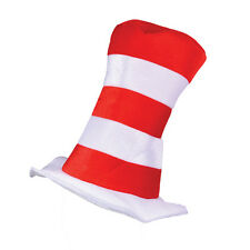 Childrens Red & White Striped Top Hat Mr Tom Dr Seuss Fancy Dress Accessor
