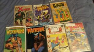 COMICS LOT OF 7 The X-Men #40 (Jan 1968, Marvel) Autographed THE NEW MUTANTS