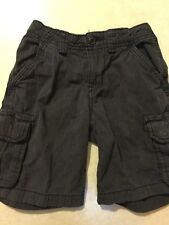 The Childrens Place Boys Dark Characoal Gray Shorts Size 5
