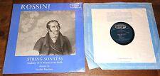 ROSSINI STRING SONATAS NEVILLE MARRINER ARGO OVAL GROOVED ED1 STEREO ZRG 506 LP