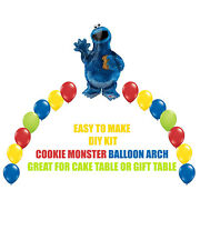 Cookie Monster Birthday BALLOON ARCH for Cake Table or Gift Table Sesame Street