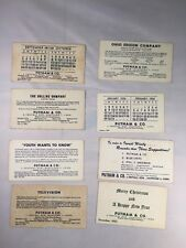Putnam & Co Hartford Ct Nyse Lot of 8 Advertisement Old Vintage Paper Blotters