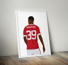 Marcus Rashford, Manchester United, Print, Poster, wall art, gift, home decor