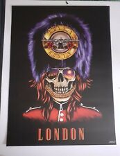 Lithographie poster Guns n roses Londres London not in this lifetime