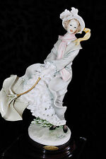 "Giuseppe Armani Stormy Weather ""Colpo Di Vento"" Damina Italy Figurine Mint"