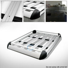 "50"" SILVER ALUMINUM ROOF RACK BASKET CAR TOP CARGO BAGGAGE CARRIER STORAGE CD4"