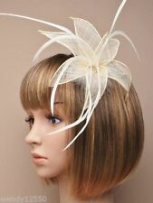 Cream fascinator clip for Ascot , Races, Weddings, Ladies Day