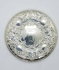 "Towle Sterling Silver Handheld Mirror Monogrammed ""D"""