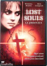 Dvd Lost Souls - La Profezia con Winona Ryder 2000 Usato
