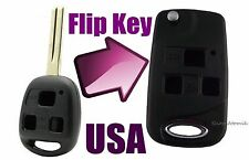 Cute Car Lexus 3 Button Flip Key Replacement Housing Shell Case Blank Uncut USA