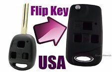 Cute Car Lexus 3 Button Flip Key Replacement Housing Shell Case Blank Uncut USA