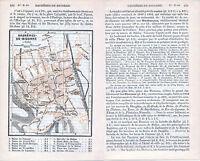 Bagnères-de-Bigorre 1912 pt. plan ville orig. + guide (7 p.) Villa Theas Duruy