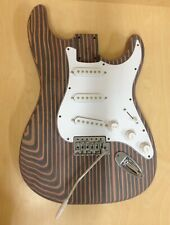 Electric Guitar Complete DIY Kit,Loaded Pick Guard,Technical ZebraWood Body+Neck