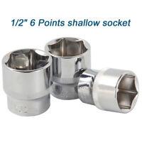 "Socket 1/2"" Drive 6 Point shallow socket Metric 8-36mm sizes 38mm long"