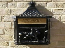 The Marlborough Black Wall Mounted Metal Aluminium Mailing Post Box Traditional