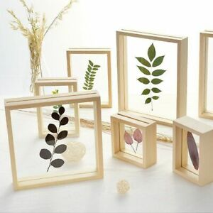 Double Sided Picture Album DIY Plant Specimen Wood Frame Wedding Room Decoration