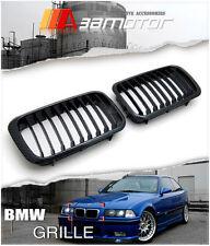 CARBON LOOK FRONT KIDNEY GRILLES 2PC SET for 92-96 BMW E36 3-SERIES PRE-LCI & M3