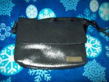 Vintage M-A-C  Mac Makeup Cosmetic Shoulder Crossbody Black Silver Bag