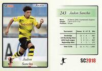 2017-18 2018 SC #243 Jadon Sancho Borussia Dortmund RC Rookie England