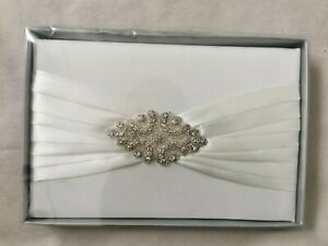 Wedding Guest Album White With Diamonte wedding album
