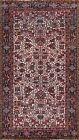 Vintage IVORY Geometric Heriz Hand-knotted Area Rug Wool Oriental 6'x10' Carpet