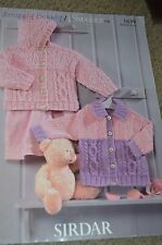 Sirdar Knitting Pattern 1639 Snuggly Bubbly Jackets Birth to 6 yrs