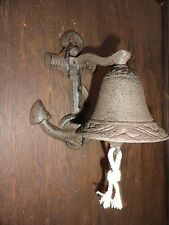 Nautical Beach Cast Iron Anchor Boat Bell decorative design vintage inspired