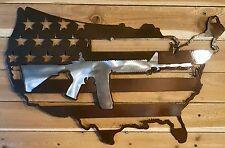 "24"" AR15 USA Wall Art Hand Made in Waco Texas CNC Plasma"