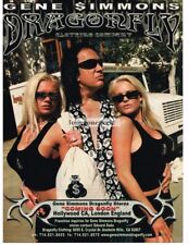 2002 Dragonfly Clothing Co. Gene Simmons 2 Beauties armored truck Vtg Print Ad
