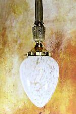 Ceiling Light A Vintage Antique Style Ornate Brass & Mottled Acorn Glass Pendant