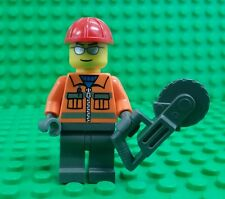 *NEW* Lego Construction Tradie Mini Figure Movie Worker Fig Ban Saw Hard Hat x 1