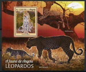 Angola Wild Animals Stamps 2019 MNH Leopards Big Cats Fauna 1v M/S