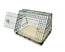 Ellie-Bo Deluxe Sloping Puppy Cage Medium 30 inch Black Dog Crate