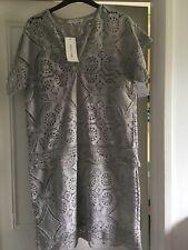 Gerard Darel Grey Lace Dress Size 36 (UK Size 10)