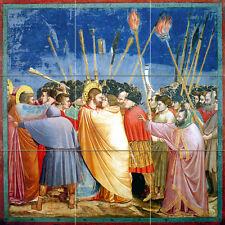 Art Proto Renaissance Arrest of Christ Mural Ceramic Backsplash Bath Tile 2616