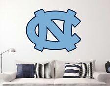 North Carolina Logo Tar Heels NCAA Custom Vinyl Wall Decals Peel & Stick ST152