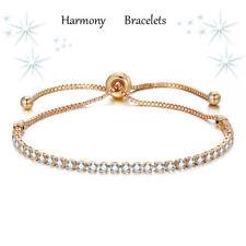 Dainty Gold Plated Swarovski Elements Crystal Bracelet by Harmony Bracelets