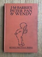 PETER PAN & WENDY JM Barrie  1930 Edition  Lucie Attwell 5 Color Plates