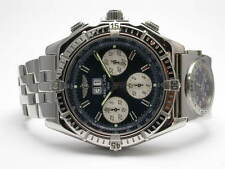 BREITLING A44355 CROSSWIND CHRONOGRAPH STEEL MENS WATCH BLUE DIAL UTC BRACELET