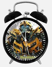 "Transformers Bumblebee Alarm Desk Clock 3.75"" Home or Office Decor Y14 Nice Gift"