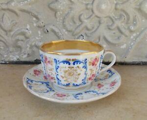 Large Cup Chocolate Porcelain from Paris 19ème