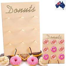 2X Wooden Donut Wall Stand Donut Party Decor Doughnut Holder Wedding Party Decor