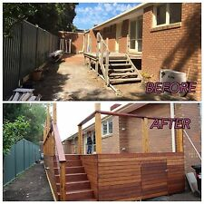 Merbau Timber Decking With Stainless Steel Cable Hand-railing Installed MelbOnly