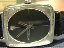 Ladies Wittnauer watch with Black, Diamond Dial 17 Jewel GE1 10K RGP Bezel