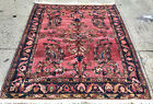 AN AWESOME ANTIQUE HAND WOVEN FLORAL DESIGN RUG 6' X 5'