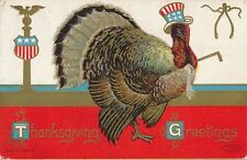 THANKSGIVING – Turkey Wearing Patriotic Top Hat