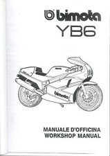 COPIA MANUALE OFFICINA BIMOTA YB6 WORKSHOP MANUAL COPY ( ITA ENG )